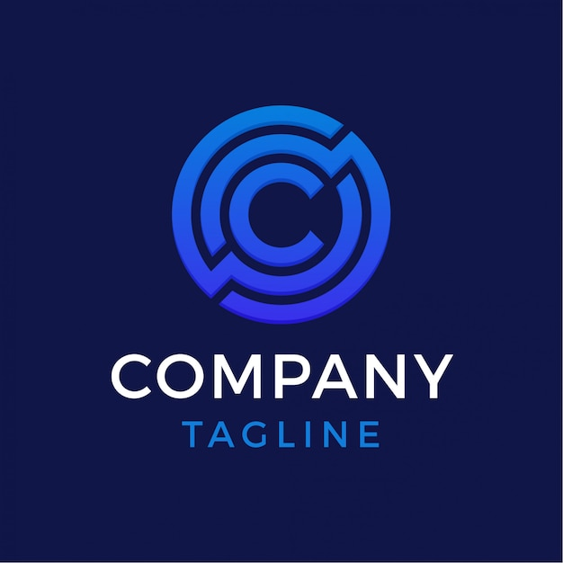 Technology letter c logo Premium Vector
