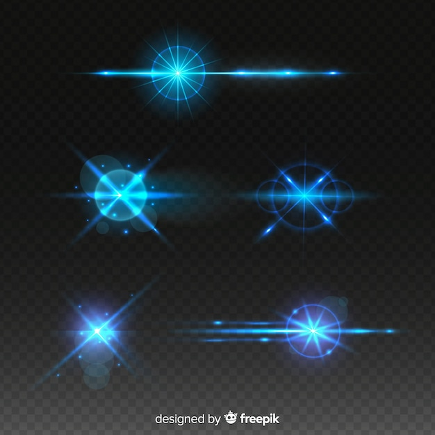 Technology light effect collection Free Vector