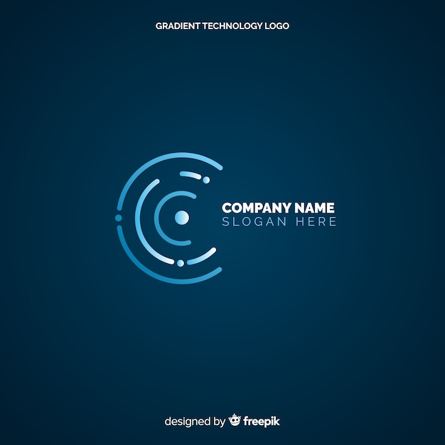Technology logo background Free Vector