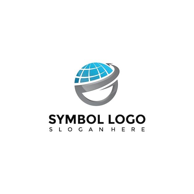 Technology logo template Premium Vector