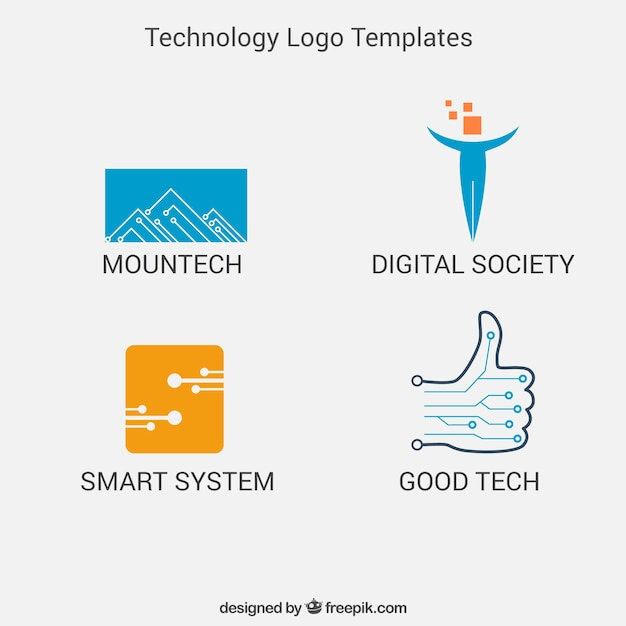Tech Logo Vectors, Photos and PSD files | Free Download