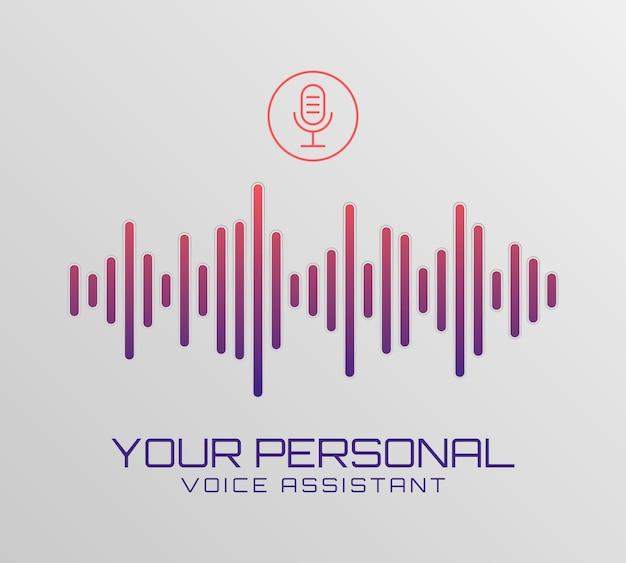 Technology music signal banner. Premium Vector