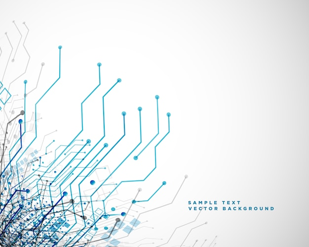 Technology network circuit lines abstract background Free Vector