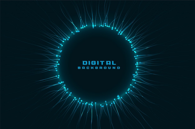 Technology network digital frame with text space Free Vector