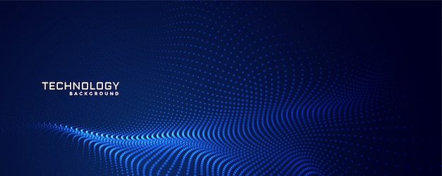 Technology particles dots background design Free Vector