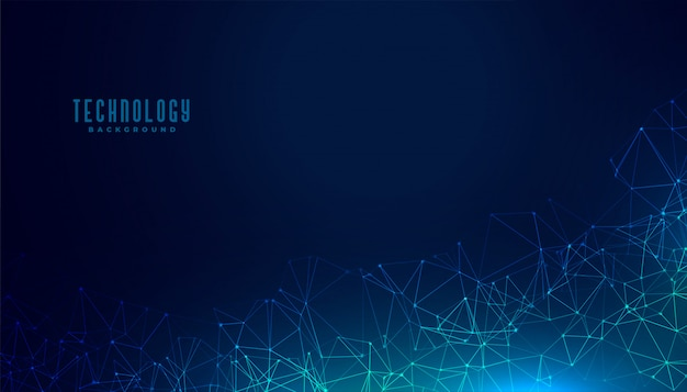 Technology polygonal mesh digital concept background design Free Vector