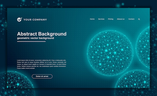Technology, science, futuristic background for website designs or landing page. Premium Vector