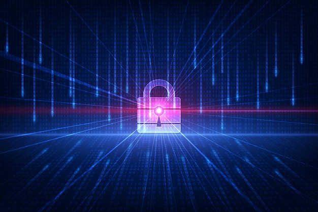 Technology security concept. modern safety digital background. protection system Premium Vector
