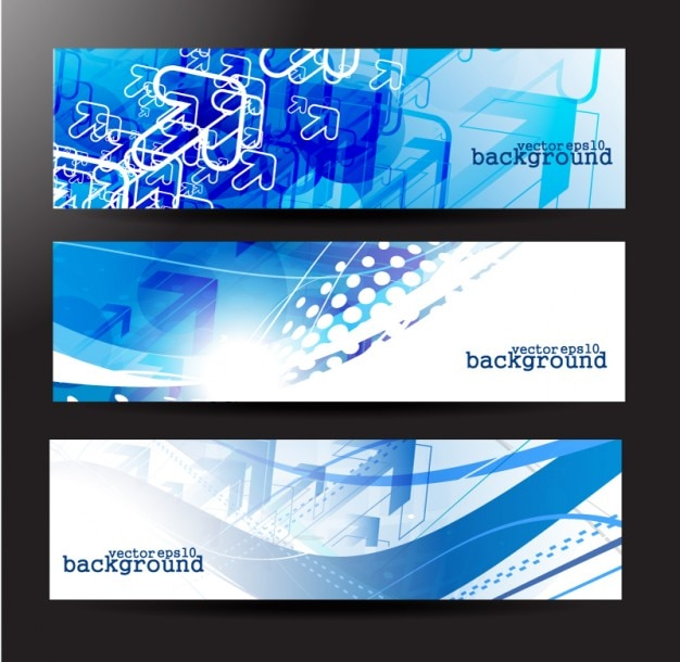 Technology theme banner material background\ vector set