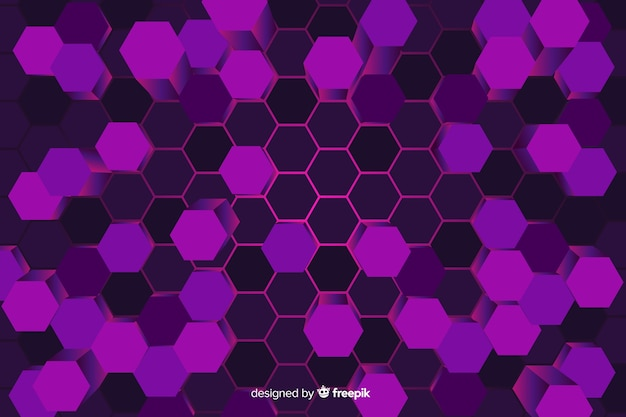 Technologycal honeycomb background Free Vector