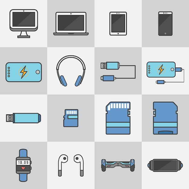 Techonology devices Free Vector
