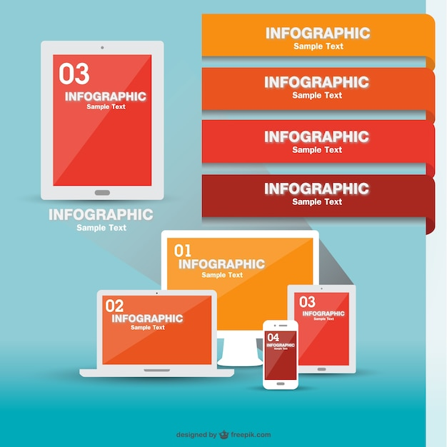 Tecnology infographic vector Vector | Free Download