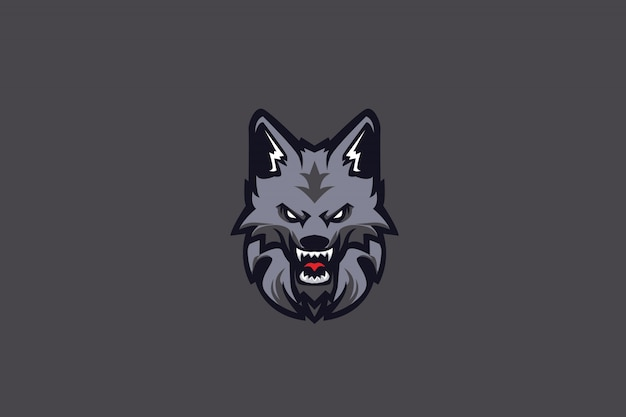 Teen wolf e sports logo Premium Vector