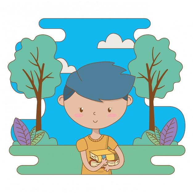 Teenager boy cartoon clip-art illustration Premium Vector