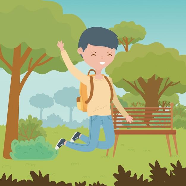 Teenager boy cartoon Free Vector
