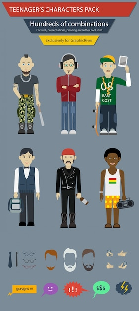 Teenager character pack