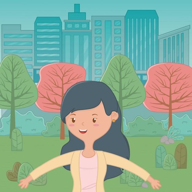 Teenager girl cartoon Free Vector