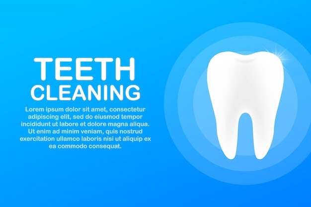 Teeth cleaning. teeth with shield icon design. dental care concept. healthy teeth. human teeth. Premium Vector