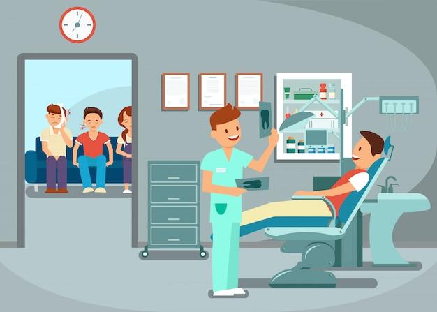 Teeth examination Premium Vector