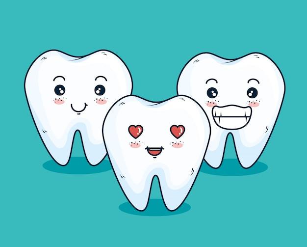 Teeth medicine treatment with dental equipment Free Vector