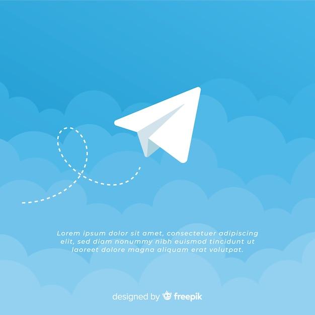 Telegram icon Free Vector
