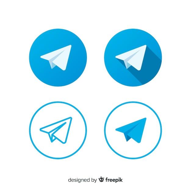 Icona di telegram Vettore gratuito
