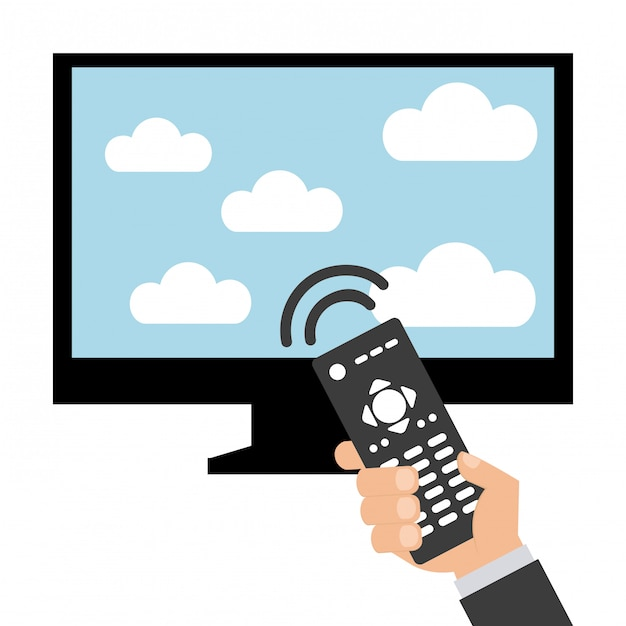 Television screen Premium Vector
