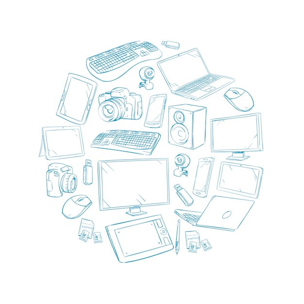 Television video and computer device Premium Vector