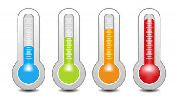 Temperature gauge used in cooking grill with the equipment Premium Vector
