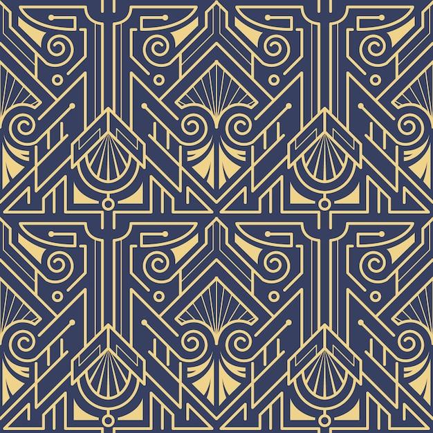 Template abstract art deco blue cs6 Premium Vector