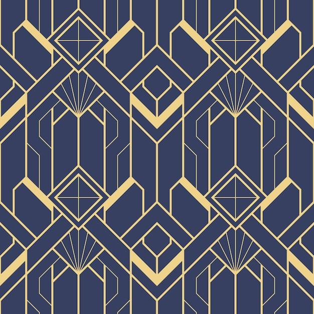Template abstract art deco blue Premium Vector