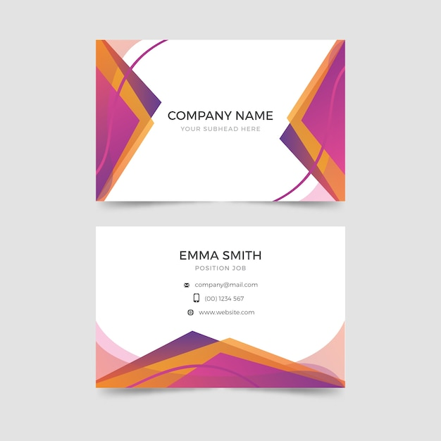 Template abstract business card Free Vector