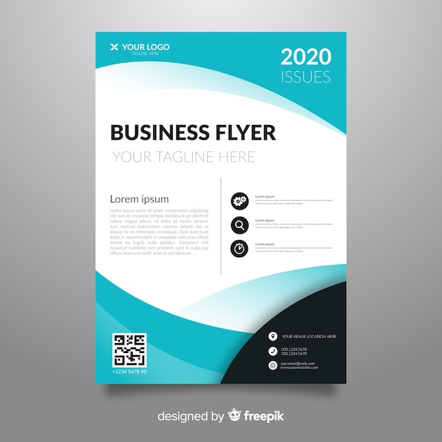 Template abstract business flyer Free Vector