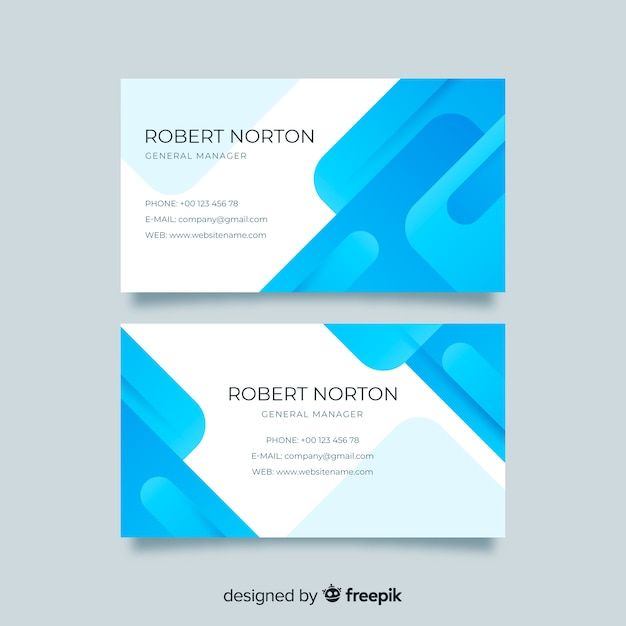 Template abstract monochromatic business card Free Vector