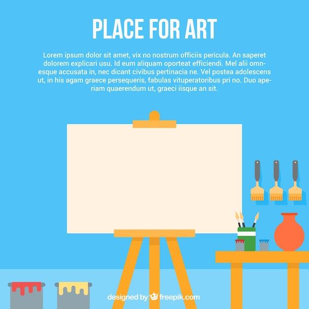 Template art studio Free Vector