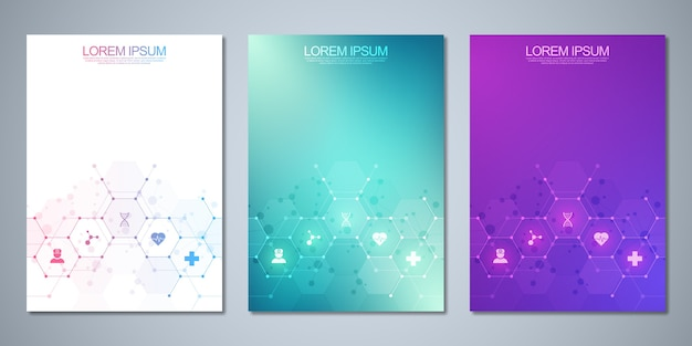 Template brochure or cover book, page layout, flyer . Premium Vector