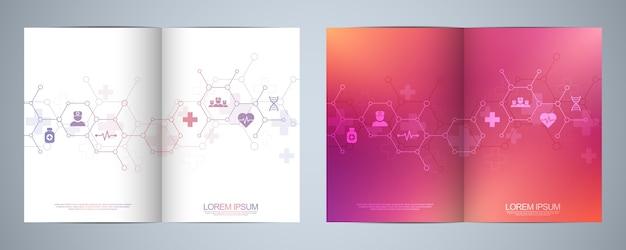 Template brochure or cover design Premium Vector