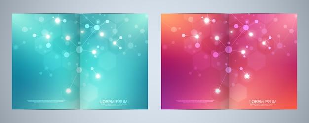 テンプレートパンフレットまたはカバーデザイン Premiumベクター