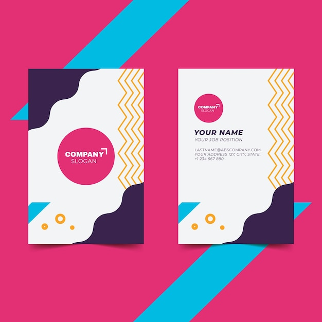 Template business card abstract Free Vector