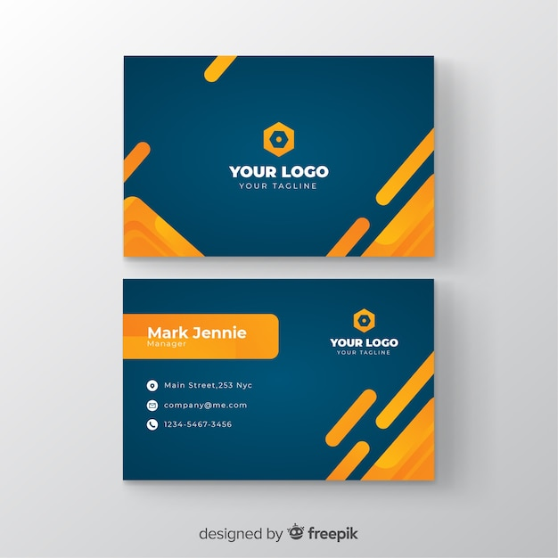 Template business card with gradient Free Vector