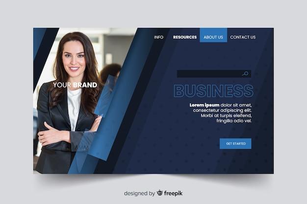 Шаблон корпоративной целевой страницы с фотографией Бесплатные векторы