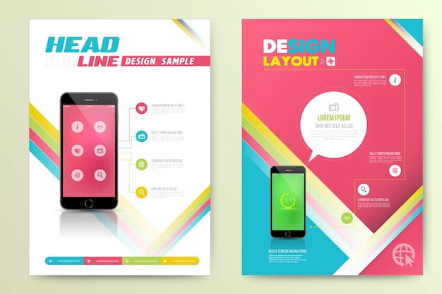 Template cover for business Premium Vector