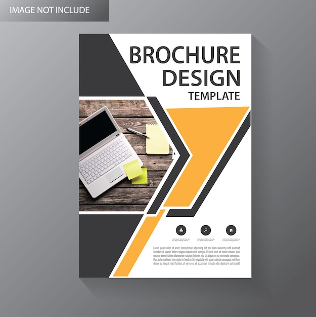 テンプレートカバーフライヤーまたはパンフレットウィット幾何学的形状 Premiumベクター