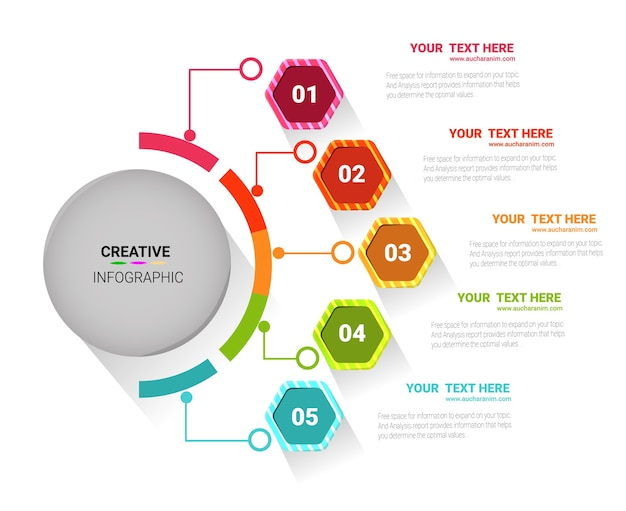 Template for cycle diagram. Premium Vector