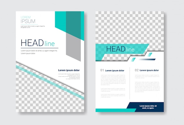 Template design brochure set Premium Vector