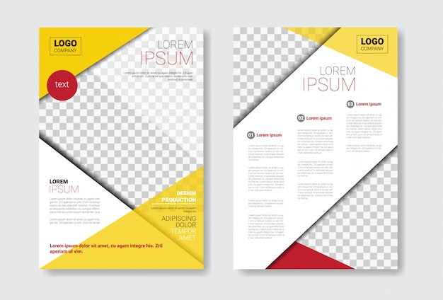 Template design brochure set Premium Vector