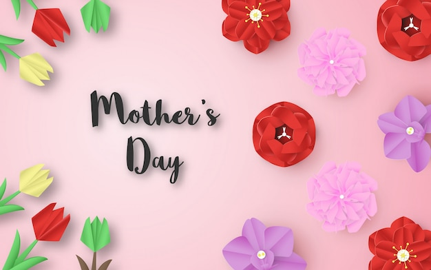 Template design for happy mother's day. Premium Vector