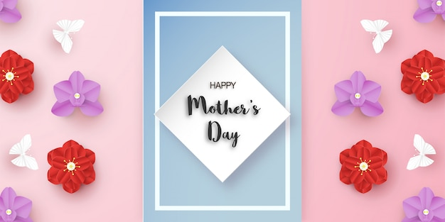 Template design for happy mother's day Premium Vector