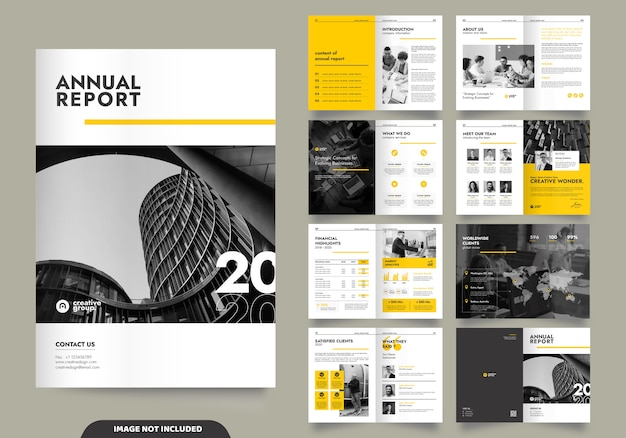Дизайн шаблона с титульной страницей для профиля компании и брошюр Premium векторы