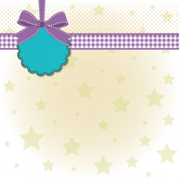 Template design with stars for baby\ shower